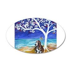 Basset Hound Spiritual Tree Wall Decal