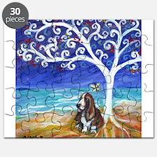 Basset Hound Spiritual Tree Puzzle