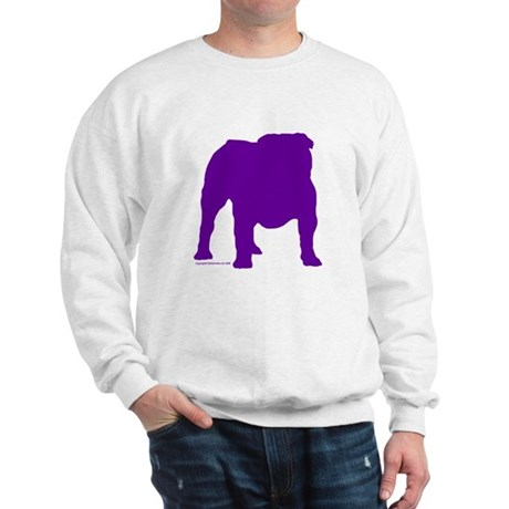 Purple Bulldog Silhoutte Sweatshirt