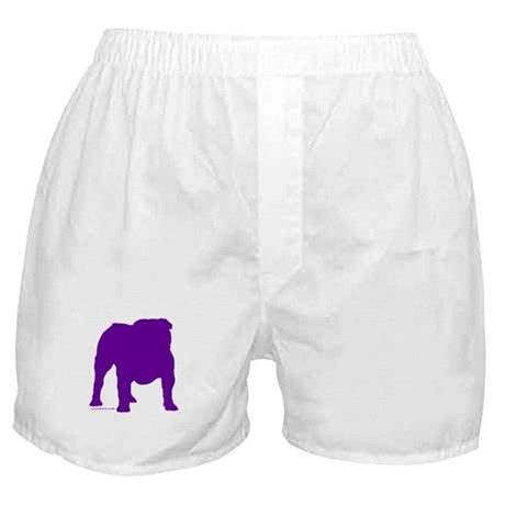 Purple Bulldog Silhoutte Boxer Shorts