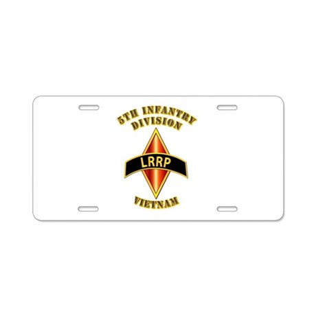 SOF - 5th ID - LRRP - Vietman Aluminum License Pla