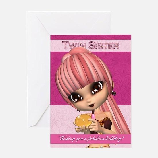 Birthday Twin Sister Greeting Cards – Twin Sister Birthday Card