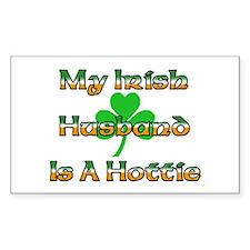 My Irish Husband Is A Hottie Rectangle Decal