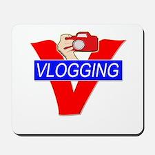 V for Vlogging with Camera Mousepad