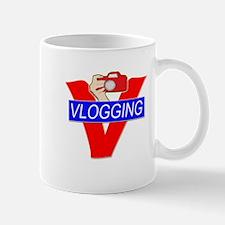 V for Vlogging with Camera Mug