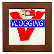 V for Vlogging with Camera Framed Tile