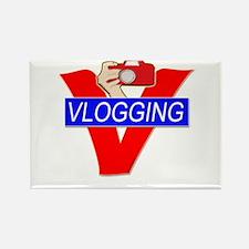V for Vlogging with Camera Rectangle Magnet