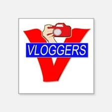 V for Vloggers with Camera Sticker