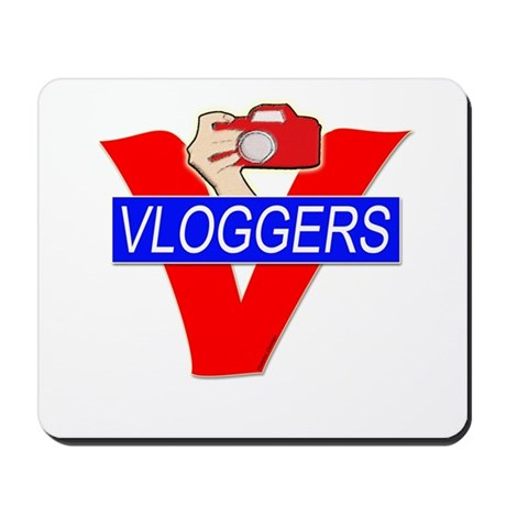 V for Vloggers with Camera Mousepad