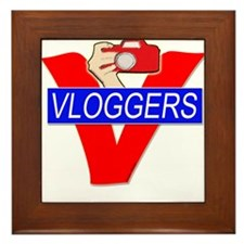 V for Vloggers with Camera Framed Tile