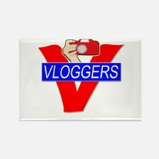 V for Vloggers with Camera Rectangle Magnet
