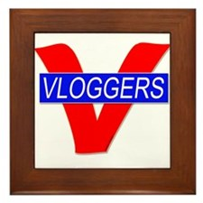 V for Vloggers Framed Tile