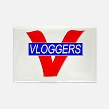 V for Vloggers Rectangle Magnet