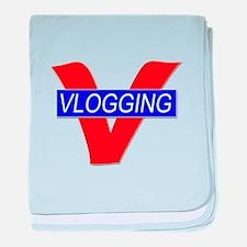 V for Vlogging baby blanket