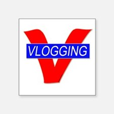 V for Vlogging Sticker
