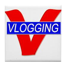 V for Vlogging Tile Coaster