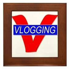 V for Vlogging Framed Tile