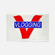 V for Vlogging Rectangle Magnet