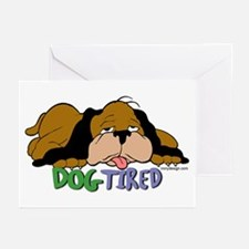 Dog Tired Greeting Cards (Pk of 10)