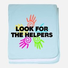 Look For The Helpers baby blanket