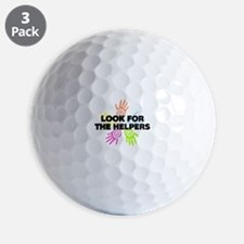 Look For The Helpers Golf Ball