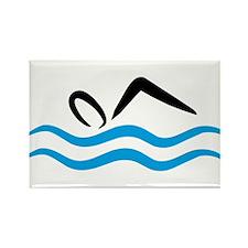 Schwimmen Rectangle Magnet