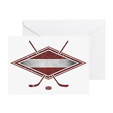 Latvijas Hokejs Flag Greeting Card