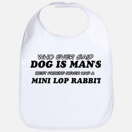 Mini Lop Rabbit pet designs Bib