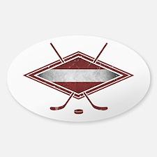 Latvijas Hokejs Flag Decal
