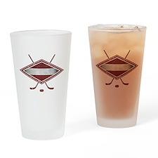 Latvijas Hokejs Flag Drinking Glass