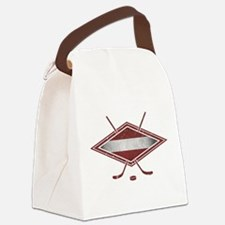 Latvijas Hokejs Flag Canvas Lunch Bag