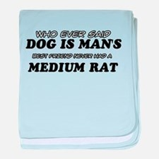 Medium Rat pet designs baby blanket