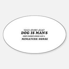 Miniature Horse pet designs Sticker (Oval)