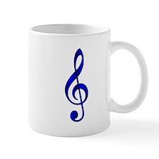 """""""Metallic"""" Blue Treble Clef Mug"""