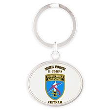 SOF - Mike Force - II Corps Oval Keychain