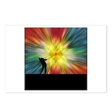 Tie Dye Silhouette Golfer Postcards (Package of 8)