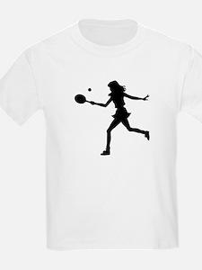 Girls Tennis Silhouette T-Shirt