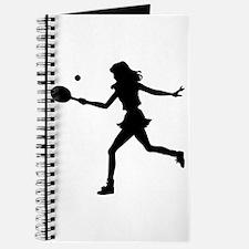 Girls Tennis Silhouette Journal