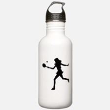 Girls Tennis Silhouette Sports Water Bottle