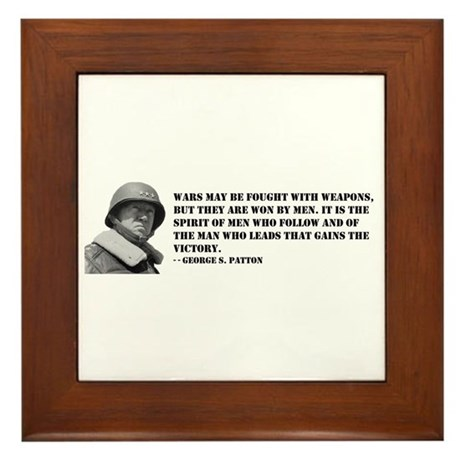 George Patton on Spirit Framed Tile