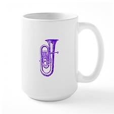 Woodcut Purple Tuba Mug