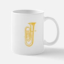 "Antique Woodcut ""Brass"" Tuba Mug"