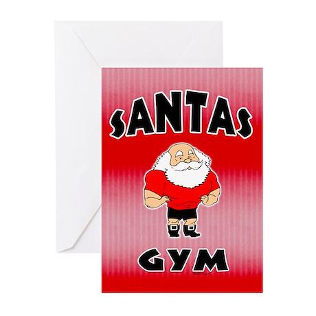Santa's Gym Greeting Cards (Pk of 10)