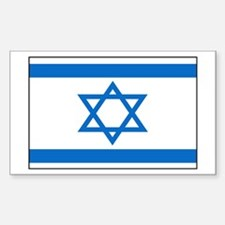 Flag of Israel Rectangle Decal
