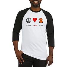 Peace Love Cats Baseball Jersey