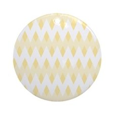 Light Tan Color Pattern. Ornament (Round)
