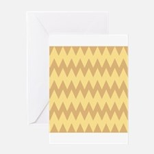 Tan and Light Brown Zigzags. Greeting Card