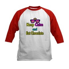Crown Sunglasses Keep Calm And Eat Chocolate Tee