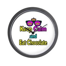Crown Sunglasses Keep Calm And Eat Chocolate Wall