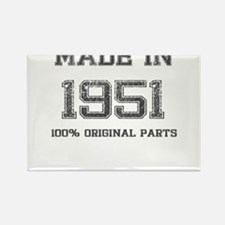 MADE IN 1951 100% ORIGINAL PARTS Rectangle Magnet